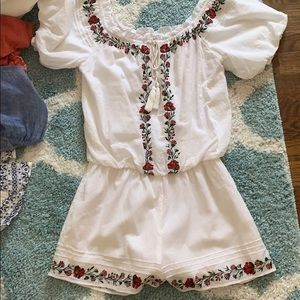 Embroided romper